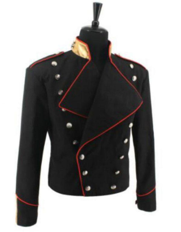 michael jackson double breasted black jacket