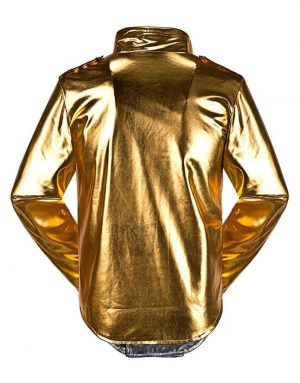 michael jackson golden satin jacket