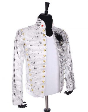 michael jackson white sequin jacket