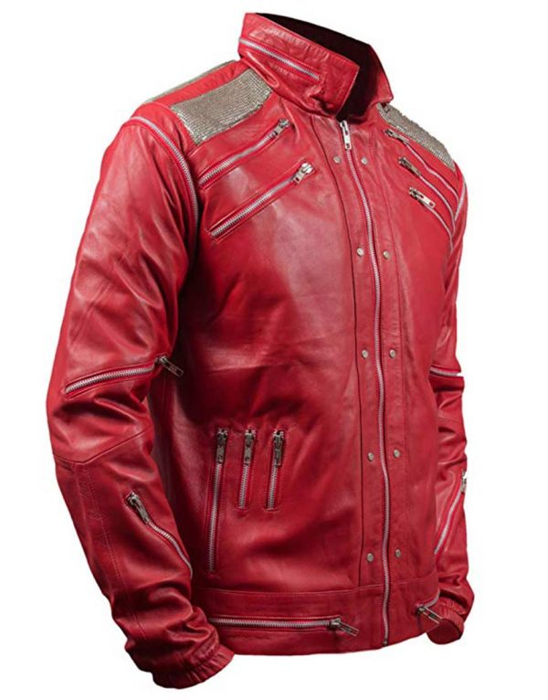 Michael Jackson Red Leather Beat it Jacket