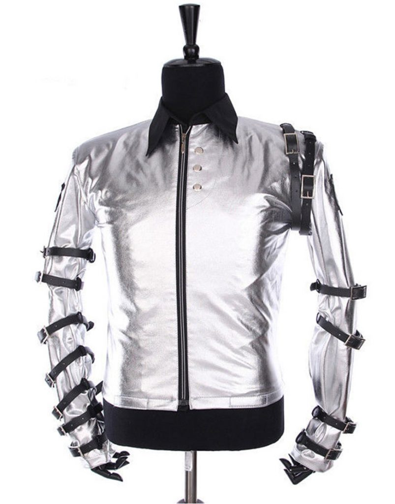 Michael Jackson Bad Tour Silver Satin Jacket For Kids