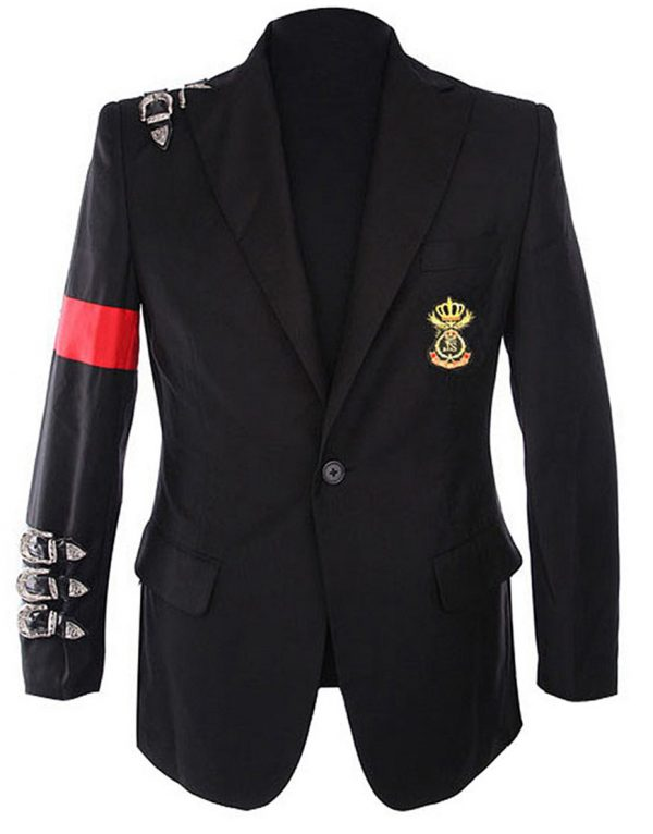 michael jackson bad buckle informal blazer