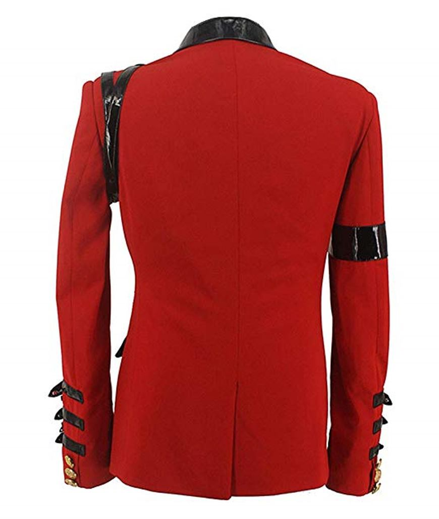 michael jackson award ceremony red cotton jacket
