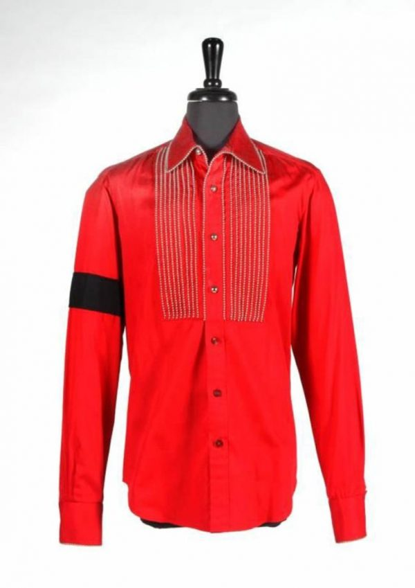 michael jackson red royal shirt